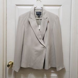 Lafayette 148 One Button Silk Blazer NWT